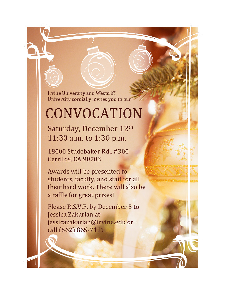 Convocation 2015 flyer Irvine